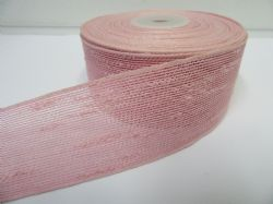 2 metres or 10 metre Roll 25mm 38mm Baby Pink Vintage Slub Ribbon Cotton Net Bouncle